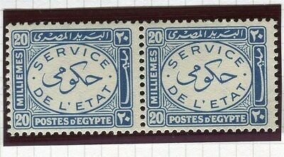 EGYPT;   1938 early Official issue 20m. fine MINT MNH PAIR