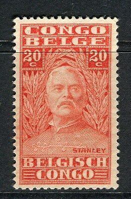 BELGIUM CONGO;  1928 early H.M.Stanley issue Mint hinged 20c. value