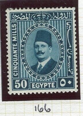 EGYPT;  1927-34 King Fuad I , issue fine Mint hinged 50m. value Shade