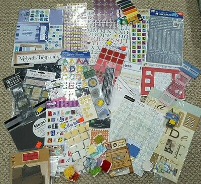 HUGE New General Scrapbooking Lot Stickers and Embellishments