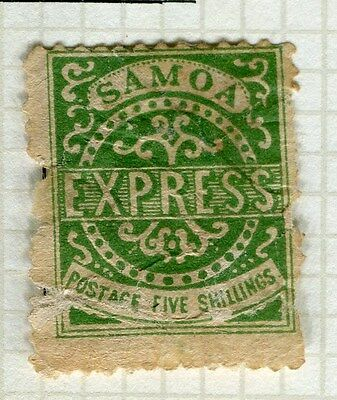 SAMOA;  1877 early classic issue P 12.5 Mint unused 5s. value , flaws