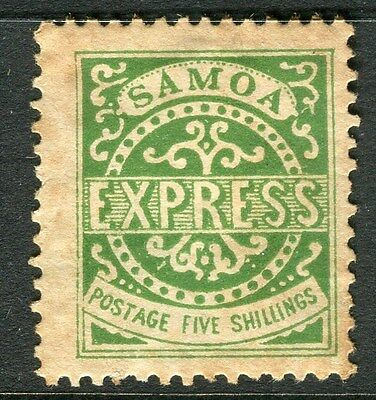 SAMOA;  1877 early classic issue P 12.5 Mint unused 5s. value , toned reverse