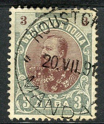 BULGARIA;  1901 early Ferdinand issue fine used 3L. value