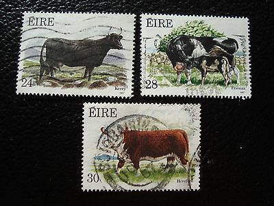 IRLANDE - timbre yvert et tellier n° 628 629 630 obl (A32) stamp ireland (A)