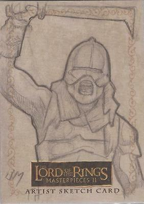"Lord of the Rings Masterpieces II - Jake Minor ""Uruk Hai"" Sketch Card"