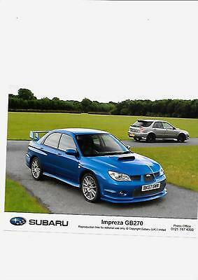 "SUBARU IMPREZA GB270 ORIGINAL 2007 PRESS PHOTO ""Brochure related """