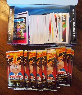 Garbage Pail Kids 2017 Adam-Geddon Complete Base Set w/ wrappers box 180 Cards