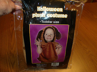 Nwt Adorable!! Brown Dog Plush Halloween Costume Toddler Size 2-3 Years