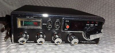 Realistic CB radio TRC-473 Citizens Band 40-channel Transceiver Microphone L@@K!