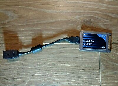 IBM Thinkpad USB 2.0 PC Card with twin USB port dongle.