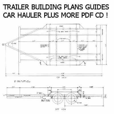 Trailer Plans Custom CD + Tow Dolly, Car Hauler, Flatbed, Various Designs *Nice*