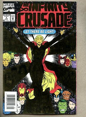 Infinity Crusade #1-1993 nm- Newsstand Variant cover / Thanos / Foil cover