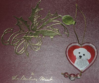 Danbury Mint Bichon Frise Ornament Collection Eyes of love