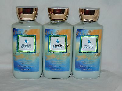 Bath & Body Works  Beach Breeze Body Lotion x3