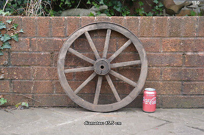 Vintage old wooden cart wagon wheel  / 45.5 cm - FREE DELIVERY