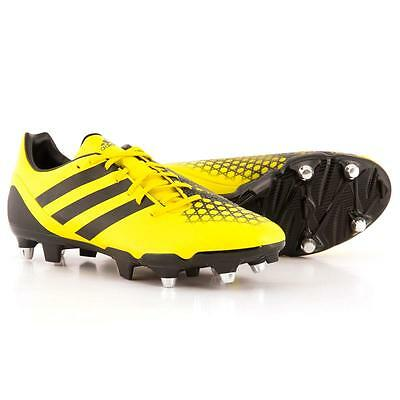 Mens Shoes Adidas Incurza Elite Rugby Boots Adults Rrp £100 B23043 Yellow Black