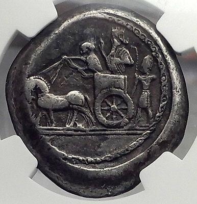 Sidon in Phoenicia 370BC Ancient Silver Double Shekel Greek Coin NGC VF i58864