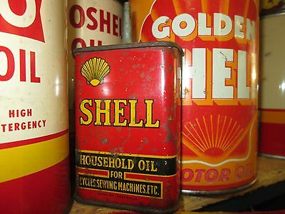 Early Original Shell Lead Top Household Oil Can