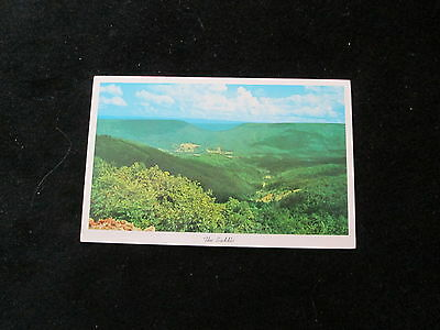West Virginia (The Saddle )   Postcard   Allegheny       U.S. 50