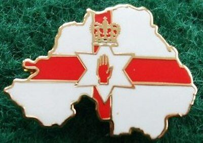Ulster Flag Northern Ireland map shaped Protestant Loyalist Pin Badge