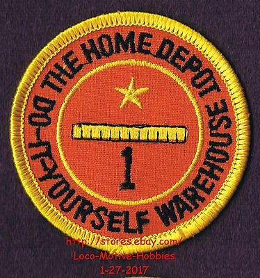 LMH PATCH Badge  HOME DEPOT WAREHOUSE Employee 1 YEAR SERVICE AWARD Years 2-5/8""