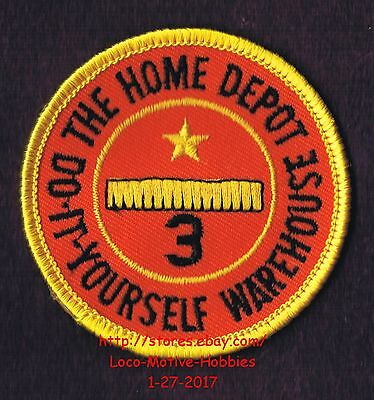 LMH PATCH Badge  HOME DEPOT WAREHOUSE Employee 3 YEAR SERVICE AWARD Years 2-5/8""