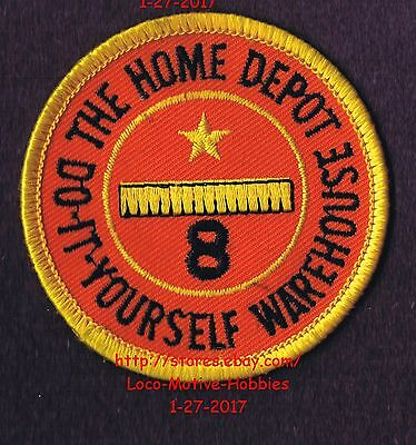 LMH PATCH Badge  HOME DEPOT WAREHOUSE Employee 8 YEAR SERVICE AWARD Years 2-5/8""
