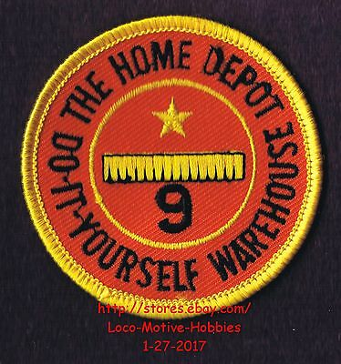 LMH PATCH Badge  HOME DEPOT WAREHOUSE Employee 9 YEAR SERVICE AWARD Years 2-5/8""