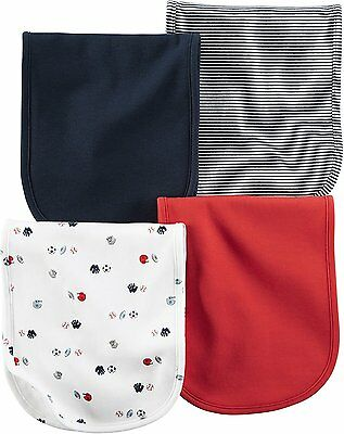 Carters Baby Boys Burp Cloths 126g295, Assorted, One Size