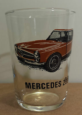 Mercedes 230 SL Vintage Juice Glass Engine Specs In French Sports Cars