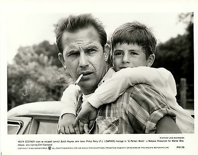 A Perfect World Movie Stills 2 B&W photos Clint Eastwood Kevin Costner