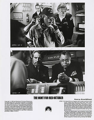 Sean Connery Alec Baldwin The Hunt For Red October Movie Stills 4 B&W photos