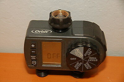 """Orbit 2-Outlet Water Timer Hose Faucet Model: 56906 """"Rain Delay"""" Free Shipping!!"""