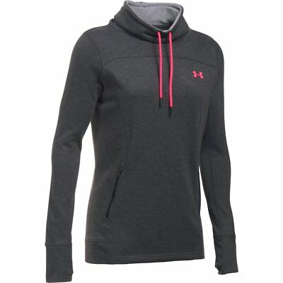 Women's Under Armour Featherweight Fleece Slouchy Hoodie Carbon Heather/Pink