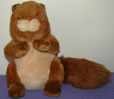 "Dakin Squirrel Bushy Tail 11"" Long Vintage 1988 Dakin Playthings 11"" Tall ~ Ag40"