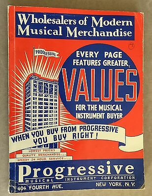 "1938 1st ELECTRIC GUITAR/BAND ""PROGRESSIVE MUSICAL INSTRUMENT CORP"" CATALOG"