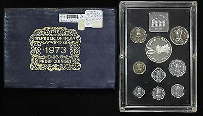 1973-B India 9 Coin Proof Set KM PS-13