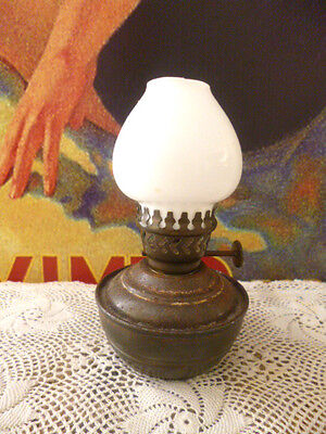 Antique vintage early 1900s metal childs baby lamp lantern England lighting