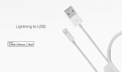 New Iphone 5/5S/5C/6/6S/6PLUS/7/7S + iPad Lightning Charger Cables IOS 10 Free