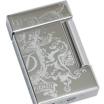 S.T. Dupont Ligne 8 Dragon Lighter, Chrome Blazon, 25115 (025115), New In Box