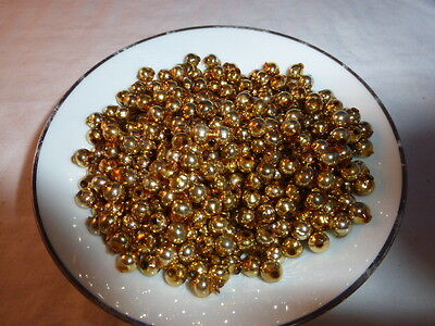 500 Gorgeous Vintage Christmas Glass Garland Beads Loose Gold 1/4th Inch