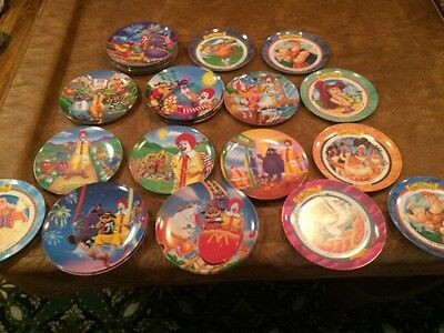 27 McDonald's plastic plates lot - Some hard to find