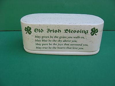 Irish  Blessing  2 Piece  Ceramic  Butter  Dish   Free Shipping....made  In  Usa