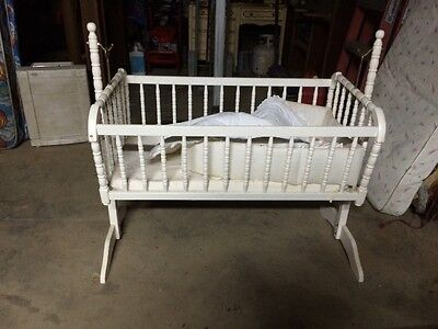 beautiful antique Jenny Lind baby cradle