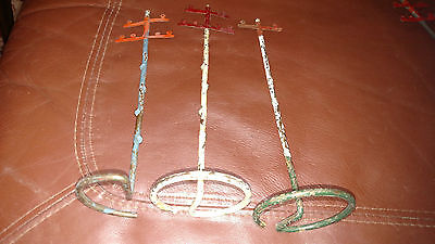 Flyer TELEPHONE POLE x3 Metal Wire MISSING CROSS BAR & Paint Storage wear PARTS