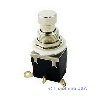 1 x 1P2T SPDT Momentary Stomp Foot / Pedal Push Button Switch Solder Lugs USA