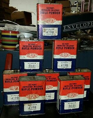 1 Vintage Dupont Smokeless Improved Military Rifle Gun Powder Cans Tin Can