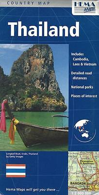Map of Thailand, includes:  Vietnam, Laos, Cambodia -  by HEMA Maps