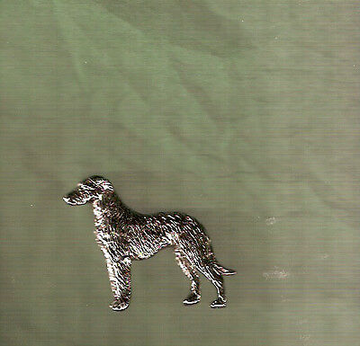 Deerhound Nickel Silver Brooch Pin Jewelry LAST ONE!