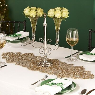 Hand Beaded Table Runner - TWO'S COMPANY…Made in India